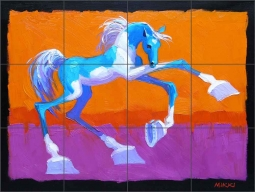 Prissie the Paint by Mikki Senkarik Ceramic Tile Mural - MSA072