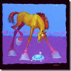 "Senkarik Children's Horse Equine Ceramic Accent Tile 12"" x 12"" - MSA101AT"