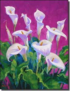 Calla Lily Floral Ceramic Accent Tile 6 X 8 Msa111at Artwork On Tile Fine Art Tile Murals And Accents