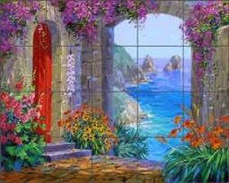 Escape to the Isle of Capri by Mikki Senkarik Ceramic Tile Mural - MSA135