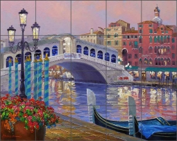 Memories of Venice by Mikki Senkarik Ceramic Tile Mural MSA141