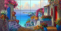 Mesmerizing View by Mikki Senkarik Ceramic Tile Mural MSA142