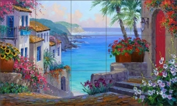 Tranquil Haven by Mikki Senkarik Ceramic Tile Mural MSA154