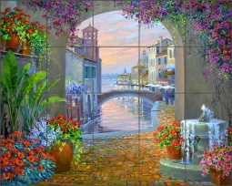 Sunset Serenade by Mikki Senkarik Ceramic Tile Mural MSA234