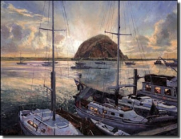 "Mirkovich Seascape Sailboats Ceramic Accent Tile 8"" x 6"" - NMA055AT"