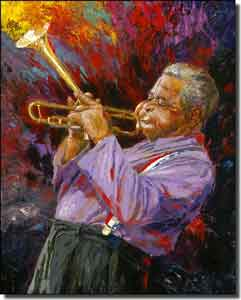 "Mirkovich Musician Jazz Ceramic Accent Tile 8"" x 10"" - NMA058AT"