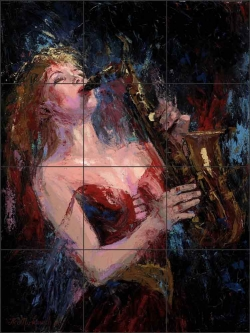 Soft Jazz by Nenad Mirkovich Ceramic Tile Mural NMA075