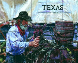 Rodeo by Nenad Mirkovich Ceramic Tile Mural NMA101