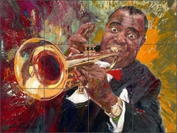 Wonderful Jazz by Nenad Mirkovich Ceramic Tile Mural - NMA105