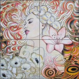 Dream Keeper by Agata & Hector Ceramic Tile Mural OB-AGA18