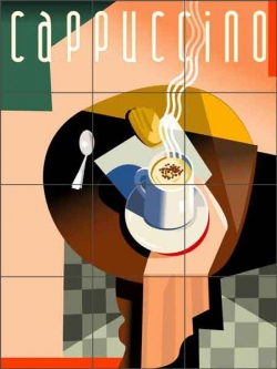 Cappuccino by Eli Adams Ceramic Tile Mural - OB-EA12