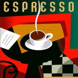 Cubist Espresso - square by Eli Adams Accent & Decor Tile OB-EA13aAT