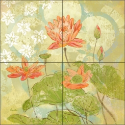 Gardens of Madeira by Evelia Ceramic Tile Mural OB-ES76a