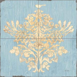 Evelia Damask Pattern Ceramic Tile Mural OB-ES83d
