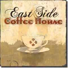 "Evelia Coffee Label Ceramic Accent Tile 4.25"" x 4.25"" - OB-ES84fAT"