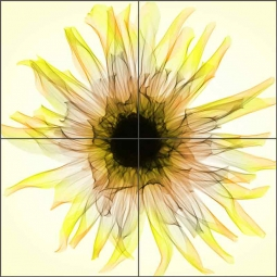 Dahlia by Hong Pham Ceramic Tile Mural OB-HP12a