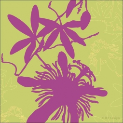 Passionflower by JEF Designs Ceramic Accent & Decor Tile - OB-JEFaAT