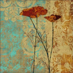 Poppies II by Louise Montillio Floor Tile Art OB-LM100b