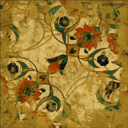 Persian Gold II by Louise Montillio Ceramic Accent & Decor Tile - OB-LM108bAT