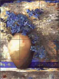 Provence Urn II by Louise Montillio Ceramic Tile Mural OB-LM40a