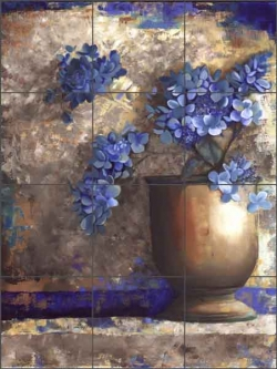 Provence Urn I by Louise Montillio Ceramic Tile Mural OB-LM41a