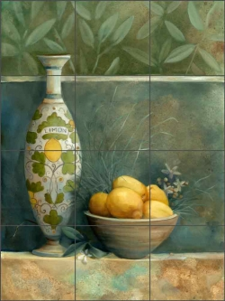 Tuscan Vase I by Louise Montillio Ceramic Tile Mural OB-LM53a