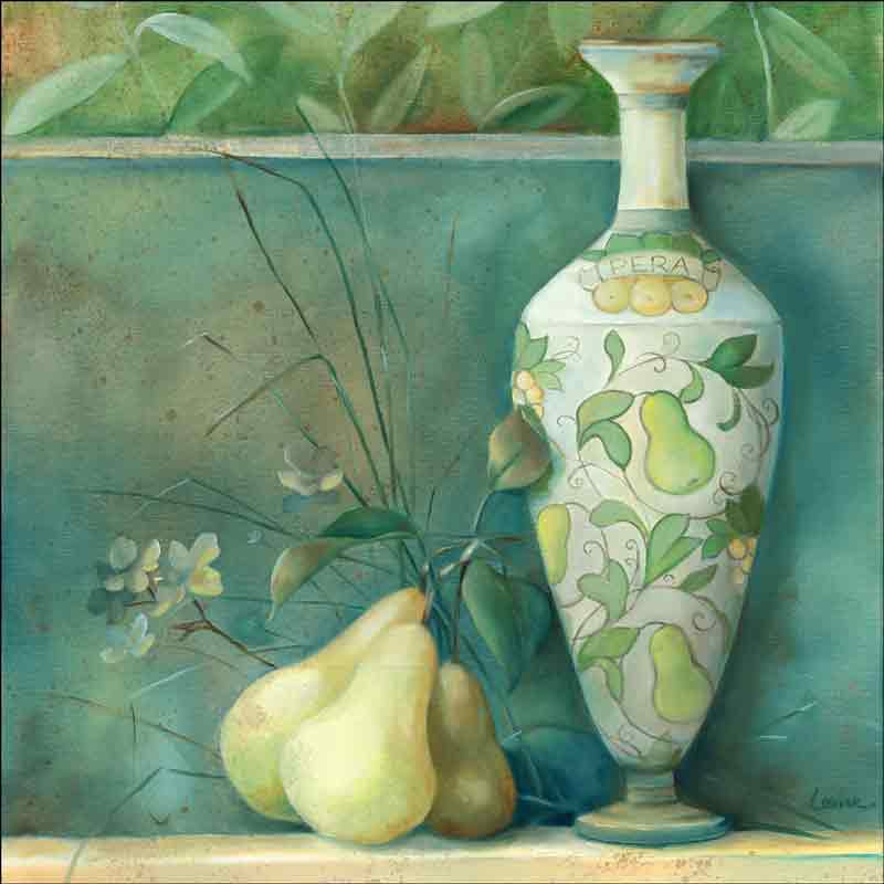 Tuscan Pears by Louise Montillio Ceramic Accent & Decor Tile OB-LM55aAT