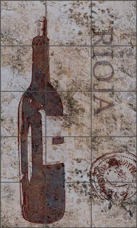 Winestone Roja by Louise Montillio Ceramic Tile Mural - OB-LM79b