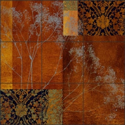 Baby's Breath I by Louise Montillio Ceramic Tile Mural - OB-LM83a