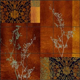 Baby's Breath II by Louise Montillio Ceramic Tile Mural - OB-LM83b