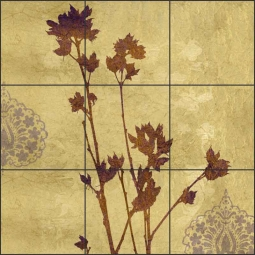 Sharon Rose I by Louise Montillio Ceramic Tile Mural - OB-LM88a