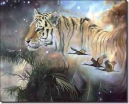 "Macon Tiger Animal Ceramic Accent Tile 10"" x 8"" - OB-LMA002AT"