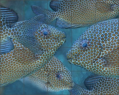 Spotted Rabbitfish II by Melinda Bradshaw Ceramic Tile Mural - OB-MB10c