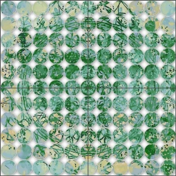 Green Pattern by Irena Orlov Ceramic Tile Mural OB-ORL8370