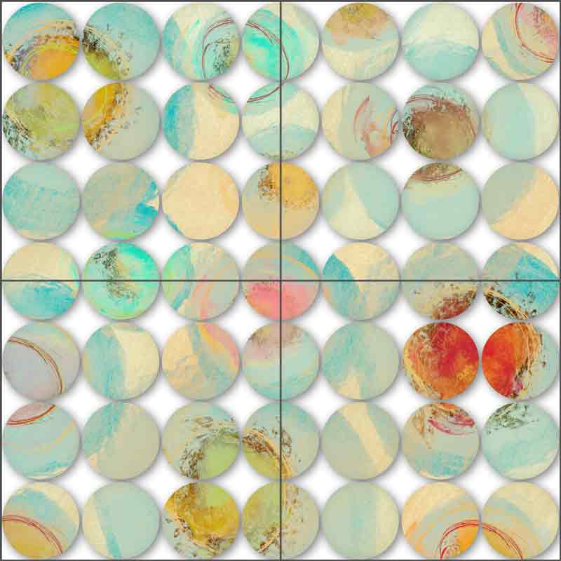 Colorful Circles 12 by Irena Orlov Ceramic Tile Mural OB-ORL8390