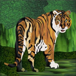Tiger by Paned Expressions Studios Ceramic Accent & Decor Tile - OB-PES01AT