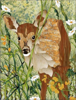 Fawn by Paned Expressions Studios Ceramic Accent & Decor Tile - OB-PES02AT