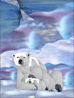 Polar Bears by Paned Expressions Studios Ceramic Accent & Decor Tile - OB-PES03AT