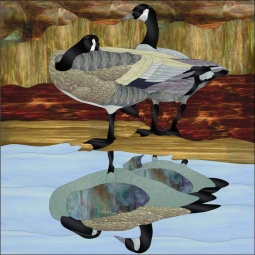 Geese by Paned Expressions Studios Ceramic Accent & Decor Tile - OB-PES05AT