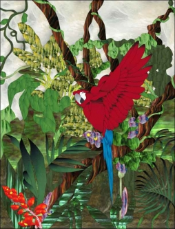 Macaw by Paned Expressions Studios Ceramic Accent & Decor Tile - OB-PES06AT