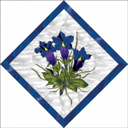 Blues by Paned Expressions Accent & Decor Tile OB-PES39AT
