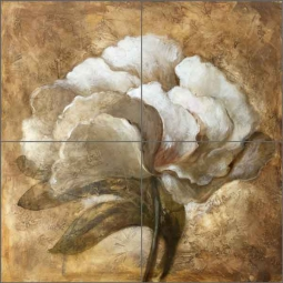 Tawney Peony by Wilder Rich Ceramic Tile Mural