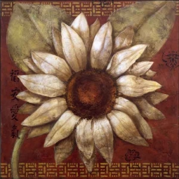 Rich Daisy Floral Ceramic Accent & Decor Tile - OB-WR1320AT