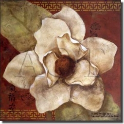 "China Doll Magnolia by Wilder Rich - Flower Floral Ceramic Tile Mural 18"" x 18"" Kitchen Shower Backs"