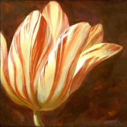 Spring Tulip I by Wilder Rich Ceramic Accent & Decor Tile - OB-WR1337AT