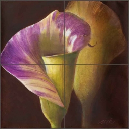 Spring Calla II by Wilder Rich Ceramic Tile Mural - OB-WR1346