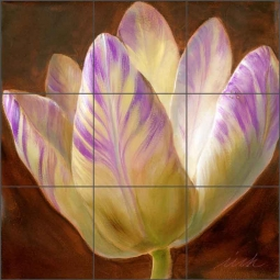 Spring Tulip II by Wilder Rich Ceramic Tile Mural - OB-WR1349