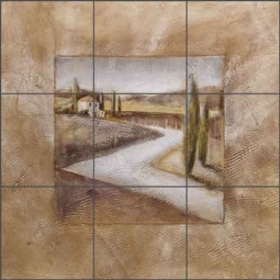 Country House I by Wilder Rich Ceramic Tile Mural - OB-WR3044