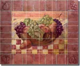 "Rich Fruit Kitchen Ceramic Tile Mural 25.5"" x 21.25"" - OB-WR718"