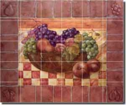 "Rich Fruit Kitchen Ceramic Tile Mural 25.5"" x 21.25"" - OB-WR719"
